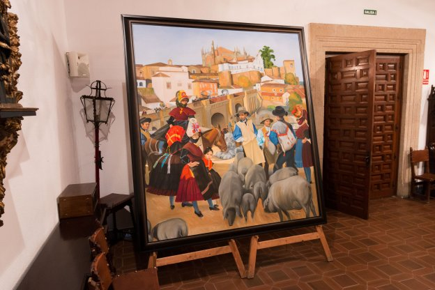 El cuadro ya está expuesto en el Salón Noble del Ayuntamiento de Plasencia : Andy Solé