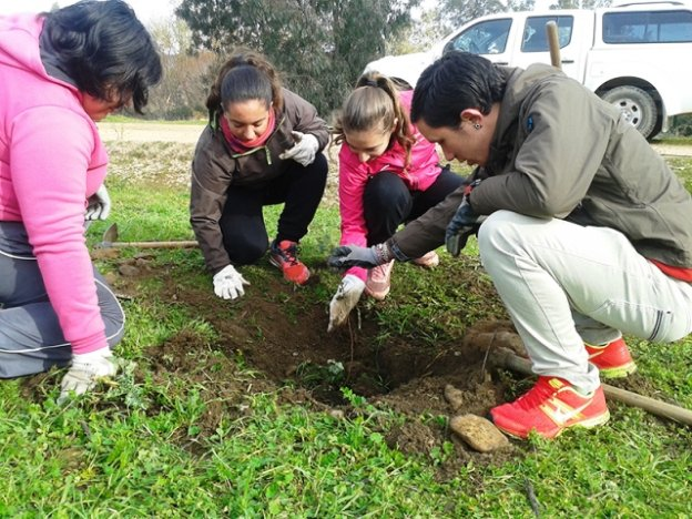 Voluntarios de Inclusives en la naturaleza. :: m. m./