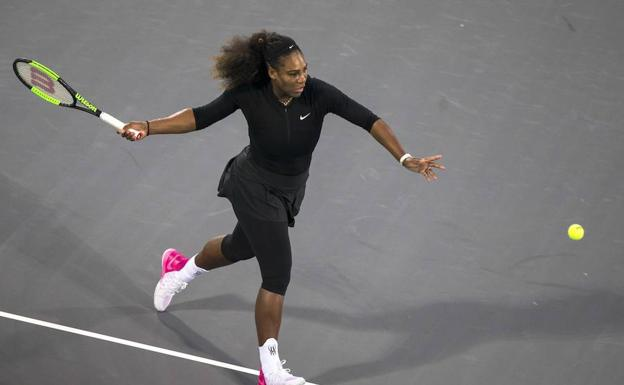 Serena Williams, en su regreso./AFP