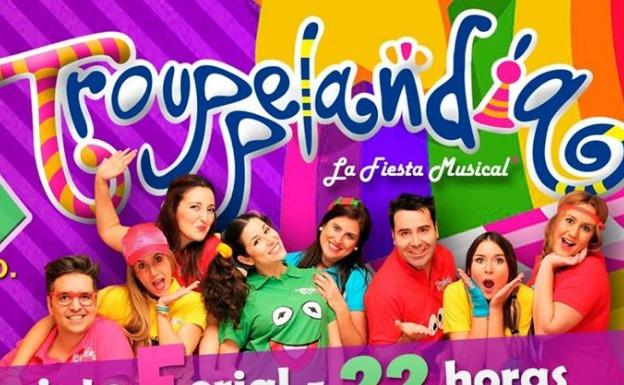 Cartel del evento musical Trouppelandia