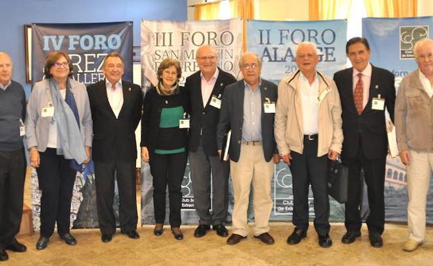 Junta directiva del Club Sénior de Extremadura.