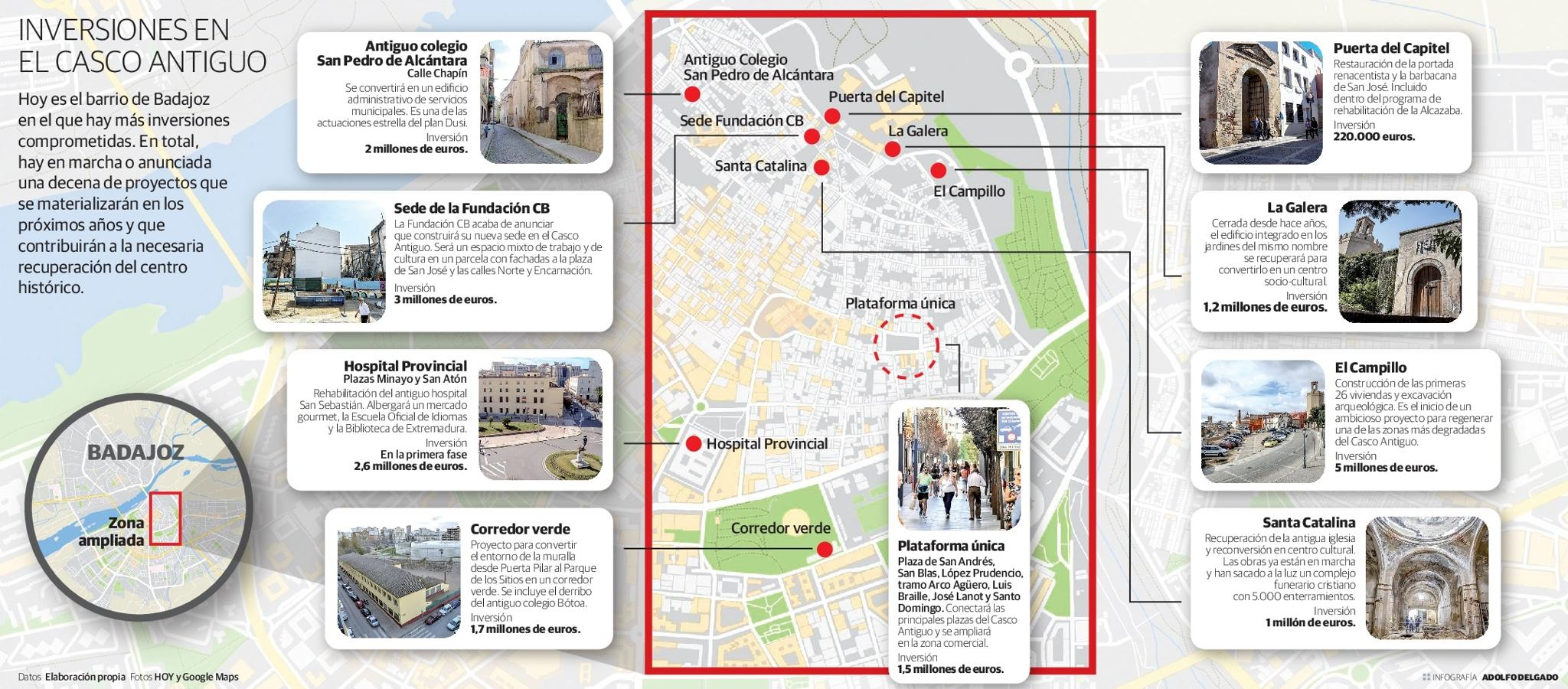 Inversiones en el Casco Antiguo de Badajoz   Hoy