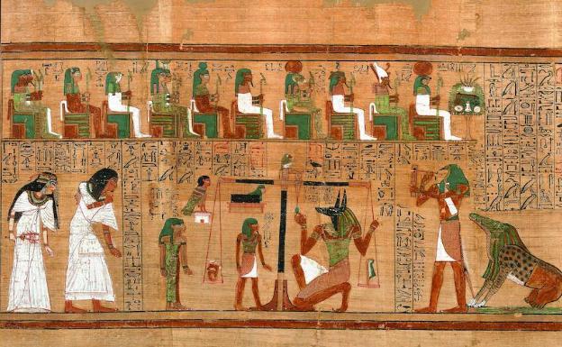 El 'Papiro de Ani', un libro divino de la muerte   Hoy