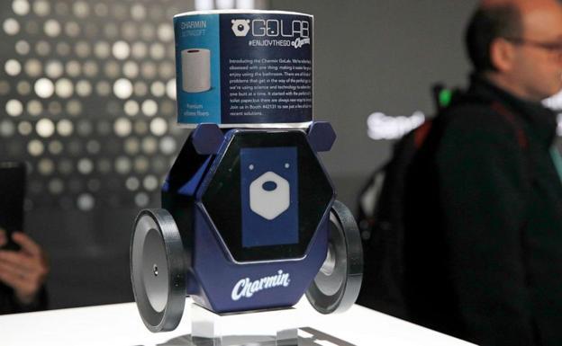 Charmin, un pequeño robot creado por Procter&Gamble.